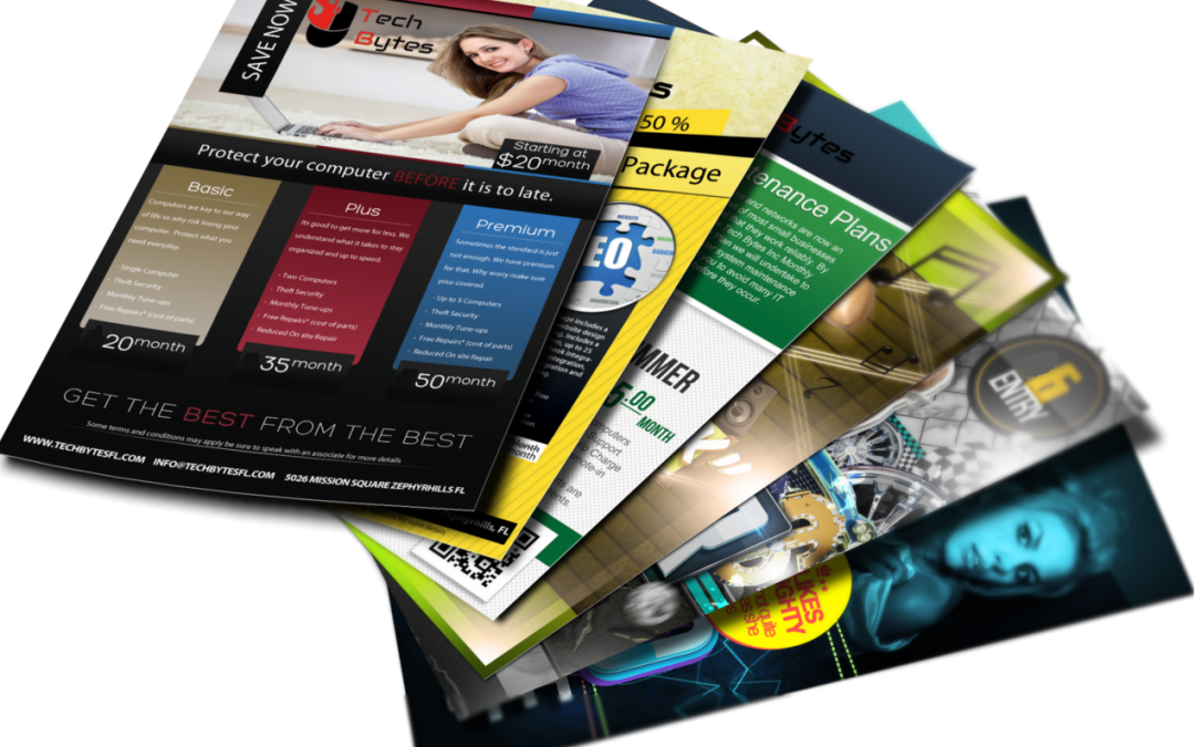 Flyers, catalogues