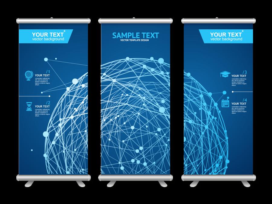Megállító tábla, Roll up, X-banner, prezentációs eszközök